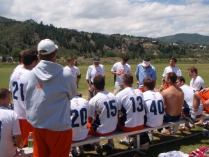 Kohn with Team Gutman (Midd alumni team) at Vail '08.