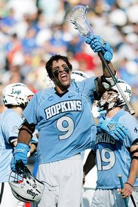 Rabil celebrates a 2008 semi-final win. Photo courtesy InsideLacrosse.com.