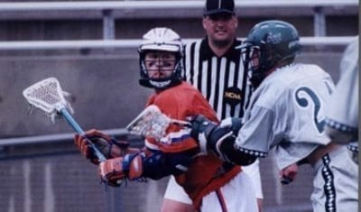 Ryan Powell playing with an edge back in the day at Cuse