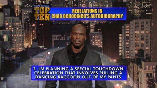 Chad Ochocinco Late Show