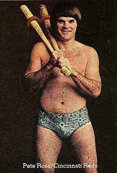 Pete Rose is happy to see you.